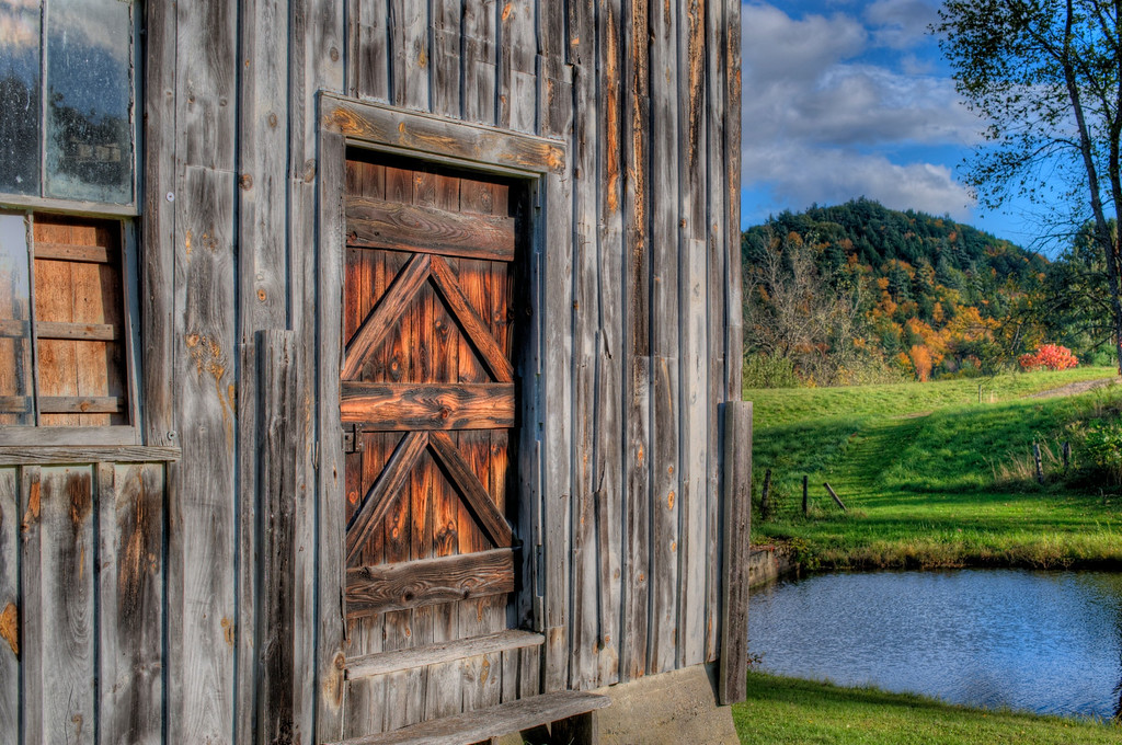 Weathered barn in Vermont.